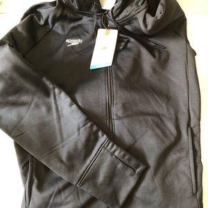 NWT Speedo hoodie performance black zip up